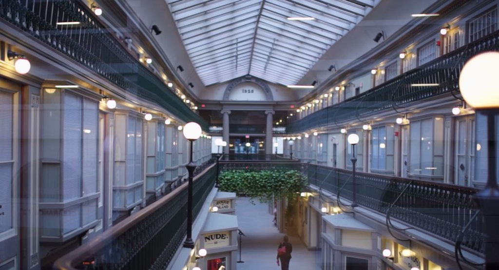 Deserted mall turned into 48 mini-apartments