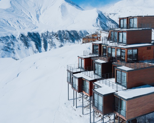 Hotel built from Shipping Containers in Georgia