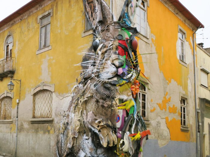 """Half Rabbit"" by Bordalo II in Portugal - the vandallsit (2)"