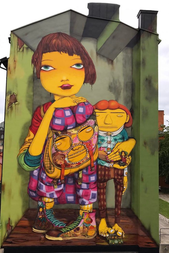 Os Gemeos's new mural in Stockholm, Sweden - the vandallist (5)