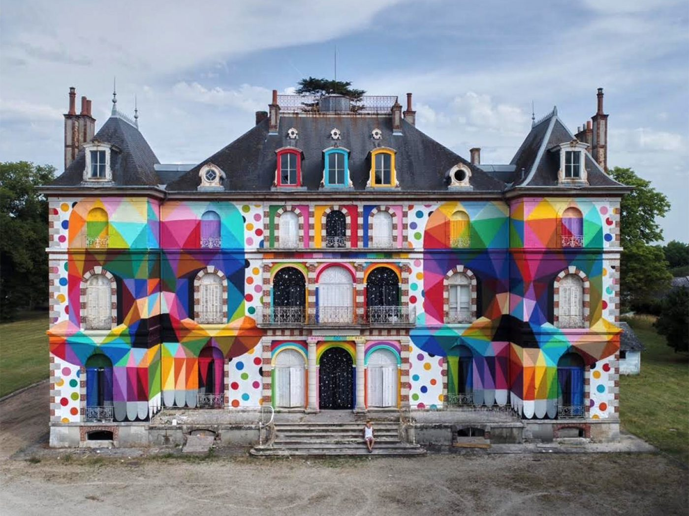Skull Mirror Castle By Okuda - the vandallist (2)