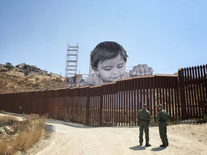 Artist JR's Latest Installation on the U.S.-Mexico Border - the vandallist (1)