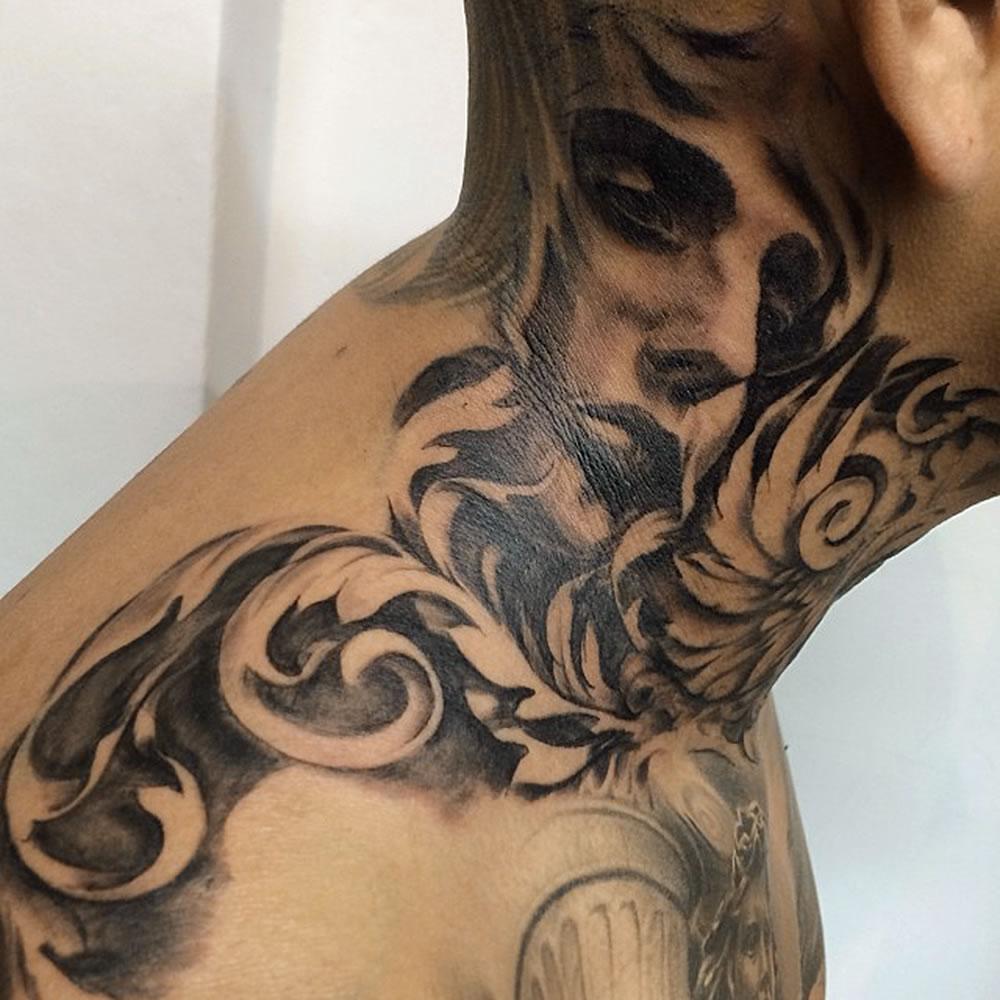 Tattoo Ideas On Neck: Carlos-torres-tattoo-04