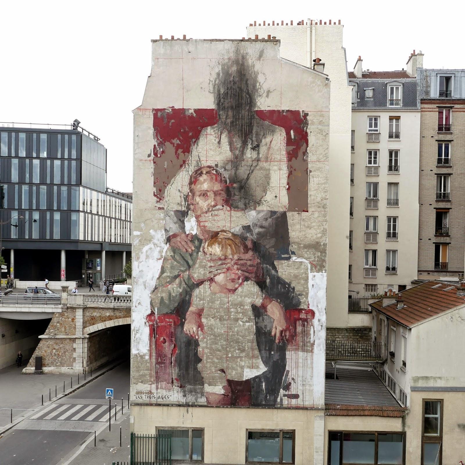 Les Trois Ages By Borondo Paris France