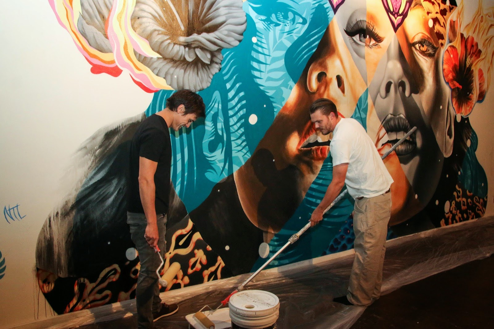 Kamea Hadar and Tristan Eaton uncover a new indoor collaboration in Los Angeles, USA (2)