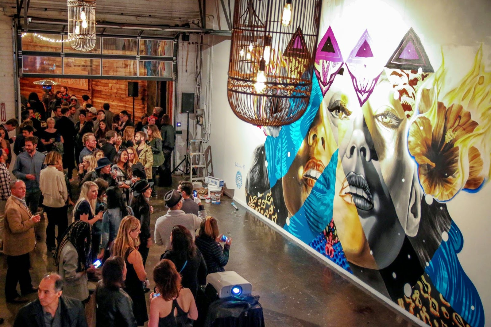 Kamea Hadar and Tristan Eaton uncover a new indoor collaboration in Los Angeles, USA (7)