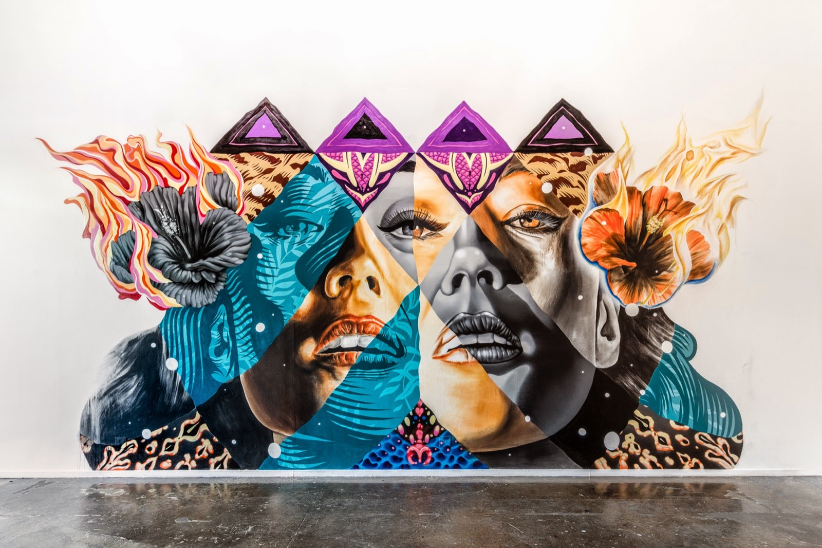 Kamea Hadar and Tristan Eaton uncover a new indoor collaboration in Los Angeles, USA (8)