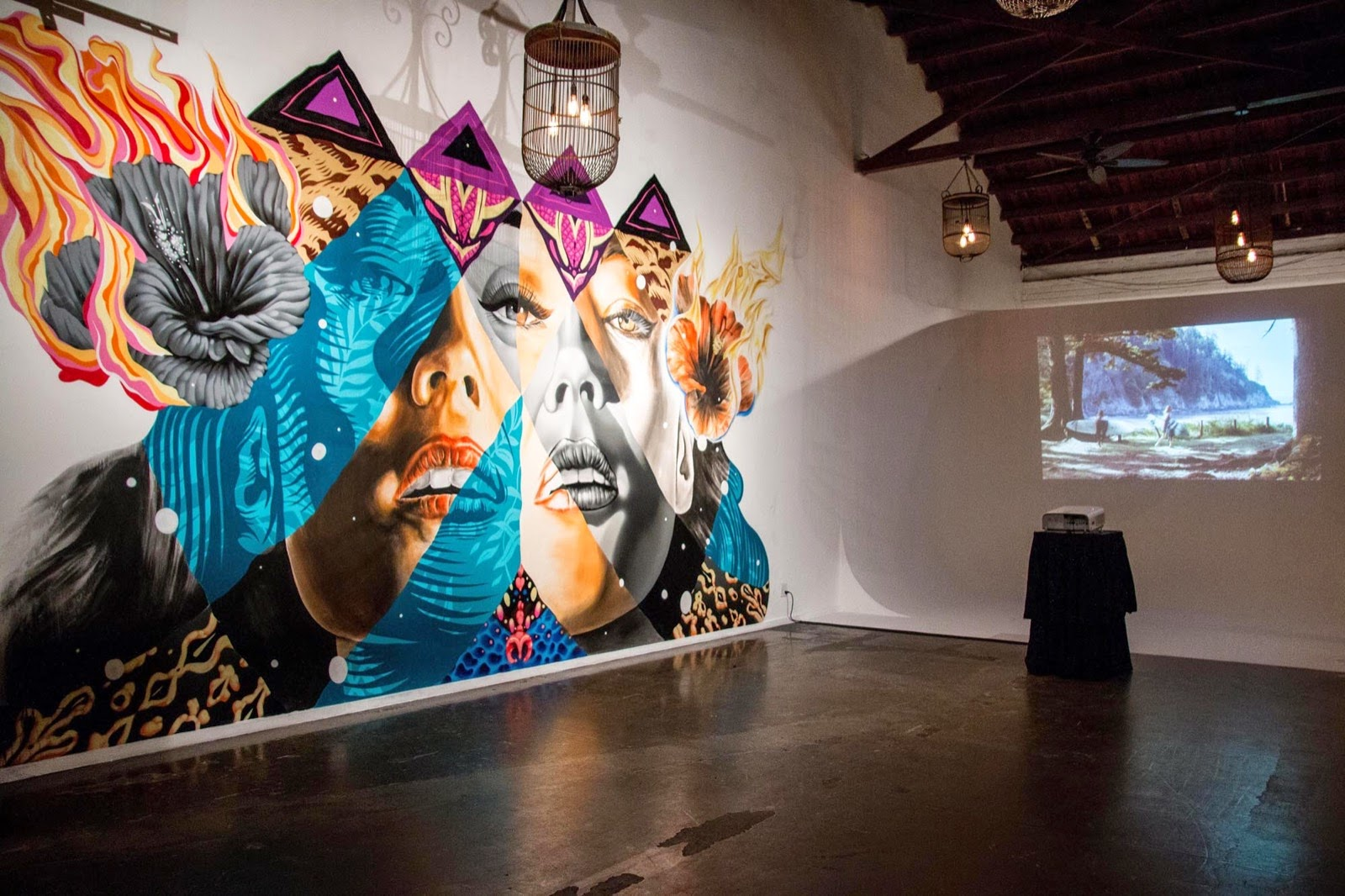 Kamea Hadar and Tristan Eaton uncover a new indoor collaboration in Los Angeles, USA (9)