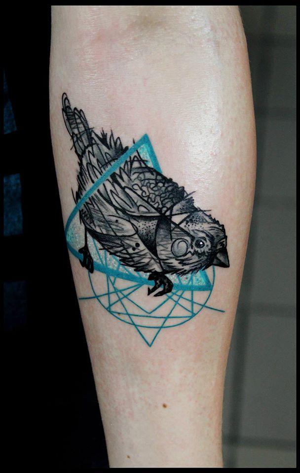 Spatz mit Hirn Tattoo - thevandallist (12)
