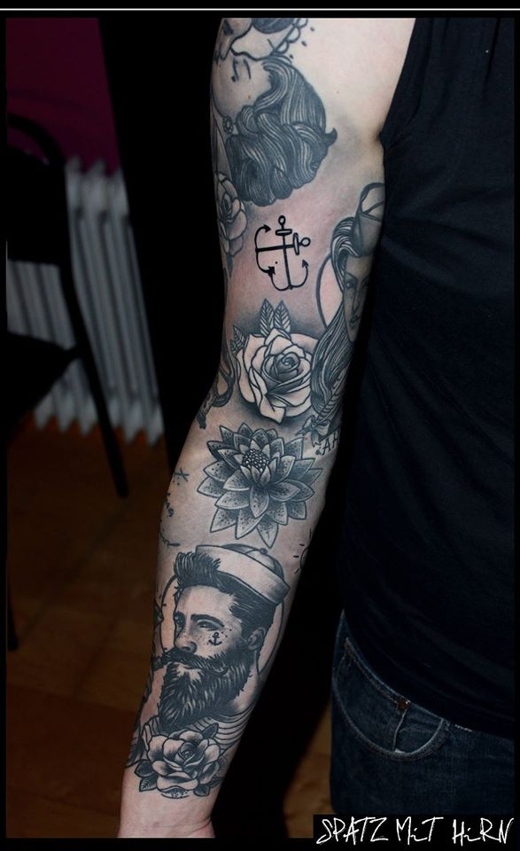 Spatz mit Hirn Tattoo - thevandallist (14)