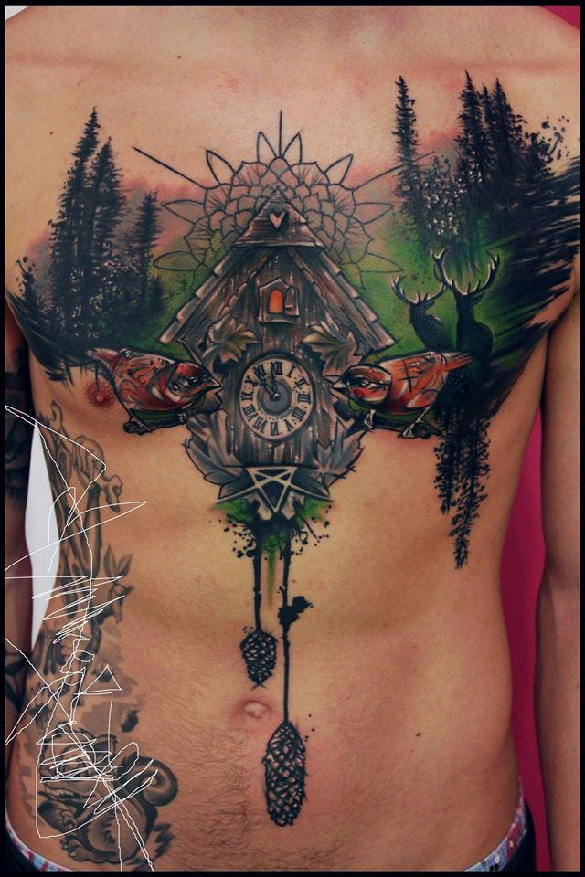 Spatz mit Hirn Tattoo - thevandallist (4)