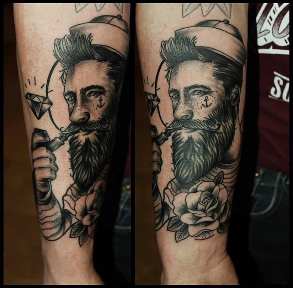 Spatz mit Hirn Tattoo - thevandallist (5)