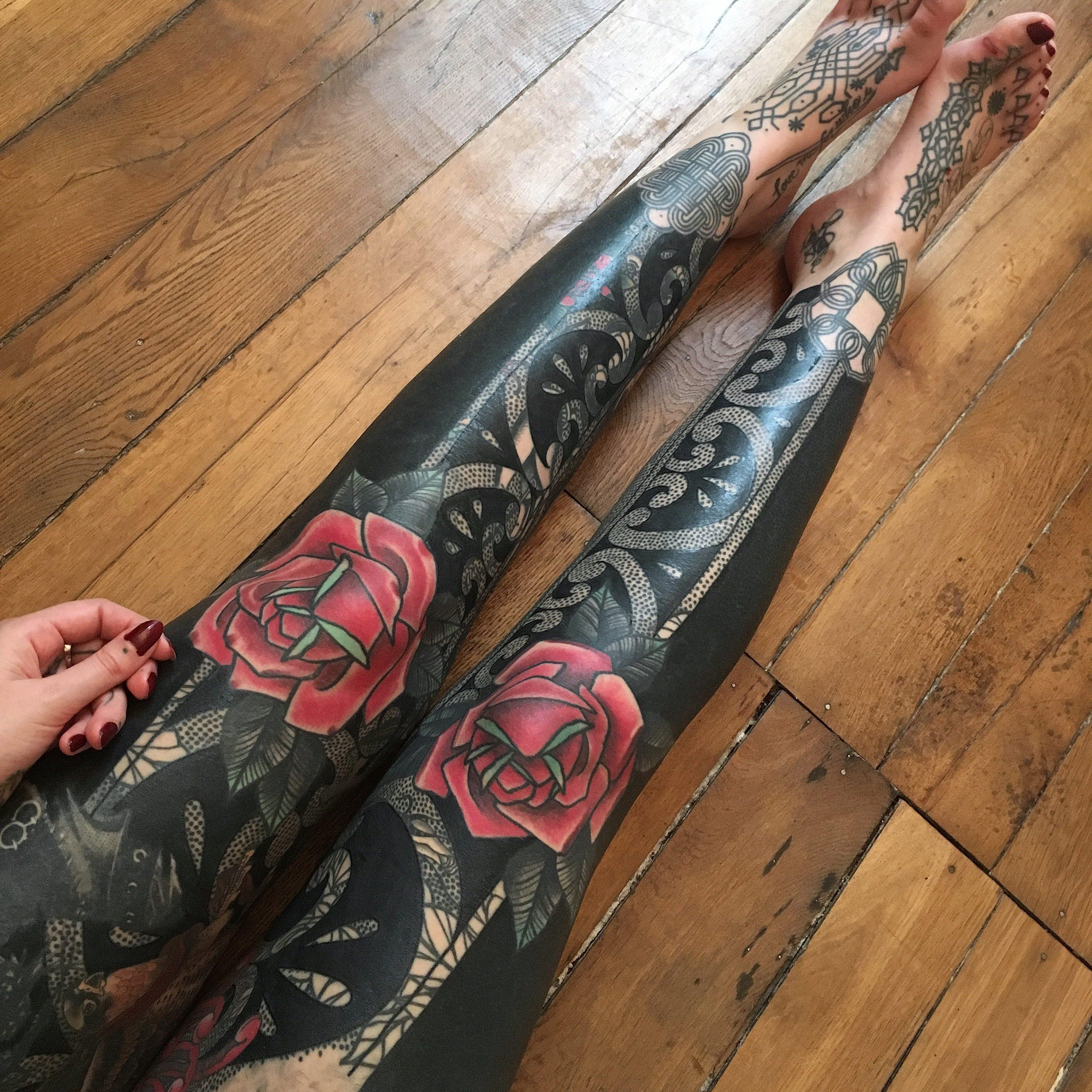 C 233 Line S Full Bodysuit By Guy Le Tattooer